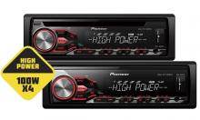 Магнитолы Pioneer DEH-4800FD и MVH-280FD с выходной мощностью 4х100 Вт