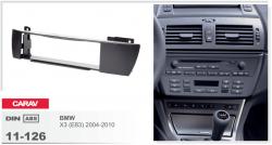 Фото Рамка переходная Carav 11-126 BMW X3 04-10 1DIN