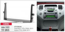 Фото Рамка переходная Carav 11-263 Hyundai Grander 05-11, Azera 06-11 2DIN