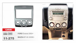 Фото Рамка переходная Carav 11-275 Mazda BT-50 06-11, Ford Ranger 06-10, Everest 06+ 2DIN Silver