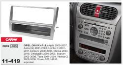 Фото Рамка переходная Carav 11-419 Opel Astra 01-05, Omega 00-03, Vectra 02-08, Vivaro 01-10 w/pocket