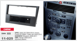 Фото Рамка переходная Carav 11-025 Opel Astra 04-10, Corsa 06+, Zafira 05-12 1DIN w/pocket Black