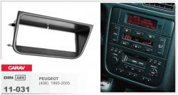 Фото Рамка переходная Carav 11-031 Peugeot 406 1995-2005 1DIN