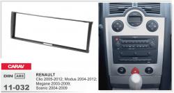 Фото Рамка переходная Carav 11-032 Renault Clio 05-12, Megan 03-09, Scenic 04-09 1DIN