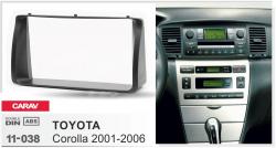 Фото Рамка переходная Carav 11-038 Toyota Corolla 2002- 2006 2DIN