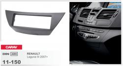 Фото Рамка переходная Carav 11-150 Renault Laguna 3 07+ 1DIN