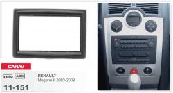 Фото Рамка переходная Carav 11-151 Renault Megane 2 03-09 2DIN