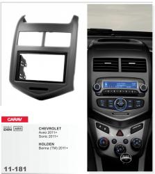 Фото Рамка переходная Carav 11-181 Chevrolet Aveo 11+, Sonic 11+, Holden Barina 11+ 2DIN