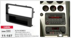 Фото Рамка переходная Carav 11-187 Alfa Romeo 159 05-11, Brere 05-10, Spider 06-10 1DIN w/pocket