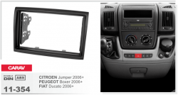 Фото Рамка переходная Carav 11-354 Citroen Jumper 06+, Peugeot Boxer 06+, Fiat Ducato 06+ 2DIN