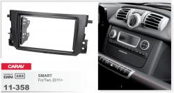 Фото Рамка переходная Carav 11-358 SMART ForTwo 2011-> 2DIN