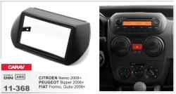 Фото Рамка переходная Carav 11-368 Fiat Fiorino/Citroen Nemo/Peugeot Bipper 08-> 2DIN