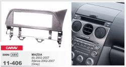 Фото Рамка переходная Carav 11-406 Mazda 6, Atenza 2002-2007 1DIN бардачек Grey