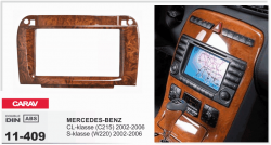 Фото Рамка переходная Carav 11-409 Mercedes-Benz SL (R230) 2001+ wooden 2DIN