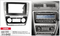 Фото Рамка переходная Carav 11-042 Skoda Octavia 08-13 (Auto Air-Conditioning) Grey-HQ 2DIN