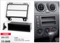 Фото Рамка переходная Carav 11-049 Ford Fiesta 01-05, Fusion 02-05 w/pocket 1DIN