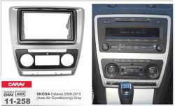 Фото Рамка переходная Carav 11-258 Skoda Octavia 08-13 (Auto air-conditioning) Grey 2DIN