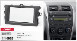 Фото Рамка переходная Carav 11-505 Toyota Corolla 2007-2013 Black 2DIN