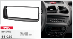 Фото Рамка переходная Carav 11-029 Peugeot (206) 98-07 1DIN