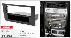 Фото Рамка переходная Carav 11-308 Ford Mondeo 02-06 w/pocket