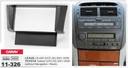 Фото Рамка переходная Carav 11-326 Lexus LS-430/Toyota Celsior 01-06 (without navigation/Black) 2DIN