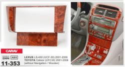 Фото Рамка переходная Carav 11-353 Lexus LS-430/Toyota Celsior 01-06 (without navigation/Woden) 2DIN