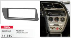 Фото Рамка переходная Carav 11-310 Peugeot (306) 93-01 1DIN