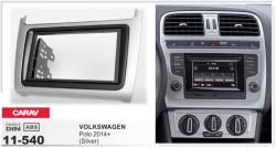 Фото Рамка переходная Carav 11-540 Volkswagen Polo 14+ Silver 2DIN