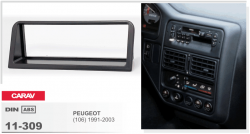 Фото Рамка переходная Carav 11-309 Peugeot (106) 91-03 1DIN