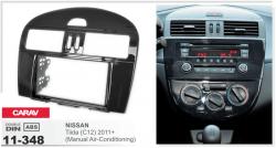Фото Рамка переходная Carav 11-348 Nissan Tiida (C12) 2011+ Manual Air-Conditioning 2DIN