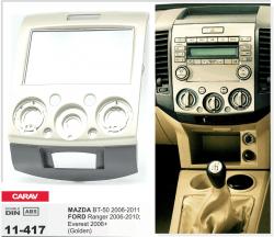 Фото Рамка переходная Carav 11-417 Mazda BT-50 06-11, Ford Ranger 06-10, Everest 06+ 2DIN
