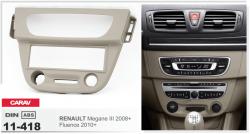 Фото Рамка переходная Carav 11-418 Renault Megane 3 2008+, Fluence 2010+ 1DIN
