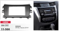 Фото Рамка переходная Carav 11-566 Nissan NP300, Navara 2014+ (Black) 2DIN