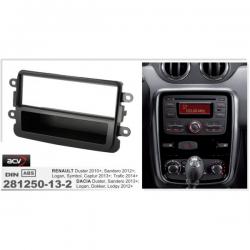 Фото Рамка переходная ACV 281250-13-1 Dacia Duster Faclift 10/2013-/Dokker, Lodgy 06/2012-> piano black