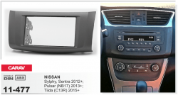 Фото Рамка переходная Carav 11-477 Nissan Sylphy, Sentra 2012+; Pulsar (NB17) 2013+; Tiida (C13R) 2015+