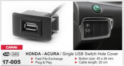 Фото USB разъем Carav 17-005 в штатную заглушку для автомобилей Honda - Acura