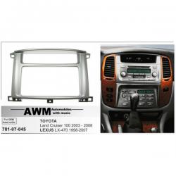 Фото Рамка переходная AWM 781-07-045 Toyota LC100/Lexus LX 470 (под штатную магнитолу Toyota)