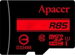 Фото Карта памяти microSDHC 32Gb Apacer Class 10 UHS-I U1 (R85MB/s) (+ adapter SD) (AP32GMCSH10U5-R)