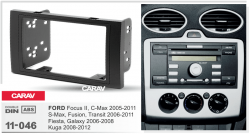 Фото Рамка переходная Carav 11-046 Ford Focus II/C-Max 05+/S-Max/Fusion/Transit 06+/Fiesta III 06-08 2DIN