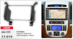 Фото Рамка переходная Carav 11-019 Hyundai Santa Fe 06+ 2DIN
