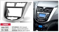 Фото Рамка переходная Carav 11-105 Hyundai i25, Accent, Solais, Verna 10+ 2 DIN
