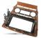 Фото Рамка переходная Carav 11-352 Skoda Octavia 08-13 (Auto Air-Conditioning) Wooden 2DIN