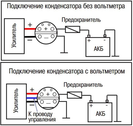 подключение конденсатора,   как подключить конденсатор